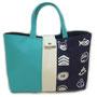 【2色帆布バッグ(キャラクター)】サイズ(約) 幅41 × 高さ25 × マチ11(cm)  2色帆布バッグにキャラクター柄が登場!!かわいいキャラクターと相性の良いカラフルな色をそろえました。