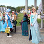 Cosplay Elsa de La Reine de Neiges.