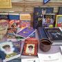 Un stand sur des livres Harry Potter