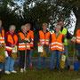 Bordesholmer Landfrauen; Bepflanzung der Verkehrsinseln in Groß Buchwald im Oktober 2017