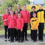 A-Gruppe Bad Ems 3 mit Longenführerin Ariane Dittmer und die Fördereinzelvoltigiererinnen mit Longenführerin Heide Pozepnia
