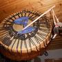 Trommelbespannung Pferd, Trommelschlägel aus Filz gefertigt
