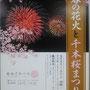 けーたさん:春の花火と千本桜(足立区)