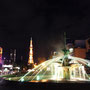 夜の大通公園(札幌)