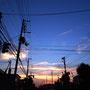 夕焼けと夜の狭間(札幌市内)