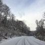 12月 真狩村から豊頃町へ続く道。