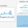 Creación de logotipo + Diseño de Tarjeta de visita para agencia inmobiliaria en Indonesia (2011)