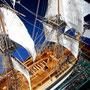 35-42  バウンティー HMS BOUNTY   年代   1787     船籍  イギリス    縮尺 1/64     素材   自作   Scratch built    製作者  満原 俊博   Toshihiro Mitsuhara