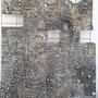 「下敷」ベニヤに金網、紙、墨、石 個人蔵
