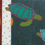 「流転 Ⅰ」 和紙に岩絵具 22.7x15.8cm 個人蔵