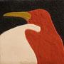 「ペンギンのためのドローイング」 岩絵具、銀泥 12x12cm 個人蔵
