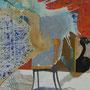 「いたちごっこ」 パネルに岩絵具、アクリル、ニス 116x91cm