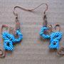 """orecchini in macramé """"MORGANA"""" R/12 - materiale: cotone, perline di rame, filo di rame battuto a mano. Venduti"""