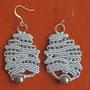 """orecchini in macramé """"NORMA"""" 2 - materiale: cotone e perline di vetro - venduti"""
