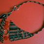 """collana in macramè """"Paola"""" - Materiale: cotone e perle in ceramica. venduta"""