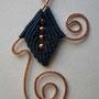 """particolare orecchini """"MORGANA"""" R/6 - materiale: cotone e rame. Venduti"""