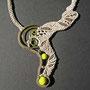"""particolare collana """"Morgana"""" A6 in macramè di lino e cotone. Venduta"""