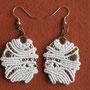 """orecchini in macramé """"NORMA"""" - materiale: cotone e perle in rame e vetro - venduti"""