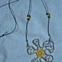"""girocollo """"Marisa"""", in alluminio, filo argentato, perline di vetro e puncetto. venduto"""