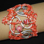 """bracciale in macramé """"Morgana"""" 4 - materiale: cotone, alluminio, perle vetro."""