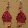"""orecchini in macramé """"MORGANA"""" R/8 - materiale: cotone, perline di rame e vetro, filo di rame battuto a mano. Venduti"""