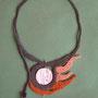 """collana """"Iside"""" in macramè di cotone e perla in ceramica - venduta"""