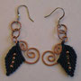 """orecchini in macramé """"MORGANA"""" R/5 - materiale: cotone, perline di rame e filo di rame battuto a mano. venduti"""