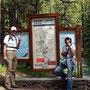 Start van de trail door Johnston Canyon