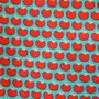 Mini Äpfelchen auf türkis (Lillestoff)