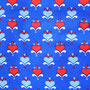 Herzen hellblau rot auf royalblau (Lillestoff)