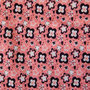 Blümchen weiß-braun auf rosa (Lillestoff)