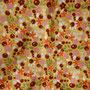 Popeline Monaluna senfgelb mit Beeren, Streublümchen