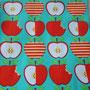 Große Äpfel rot-türkis - Lillestoff