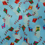 Reststück (nur noch für kleine Details): Feiner Webstoff Herbstdrachen