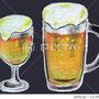 ビール イラスト オイルチョーク