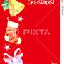クリスマスカード イラスト 透明水彩・Photoshop
