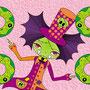Trampolina y los donuts zombis