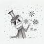 Copo de nieve calavera (Creepmas challenge 2018)