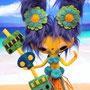 Maimiti es una princesa duendelfa que decidió librarse de la vida palaciega y encontrar su propia isla desierta. Le encanta tallar tótems, imitar el canto de los pájaros y subirse a los árboles. Odia llevar zapatos.