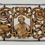 Holzschnitzarbeit 'Heiliger' Nussbaum, 17./18. Jhd. wohl Frankreich, 57x90cm, Erlös 800 €