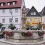 Kulmbach: der Zinsfelder Brunnen auf dem Holzmarkt