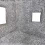 Verschiebung des Raumes - Graphitzeichnung - 150 cm x 150 cm