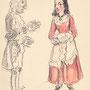 Uberto und Serpina, Zeichnung von Faustina Iselin