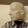 Gilles in der Entstehung, Figur von Matthias Hänsel