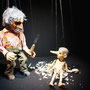 Gepetto und Pinocchio - schön in Szene gesetzt (Figuren von Christian Schuppli 1975)
