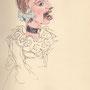 Sibylle, Tochter vom Lällekeenig, Zeichnung von Faustina Iselin