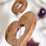 Herz-Engel aus heimischem Lärchenholz und Swarovski-Steinen. Nach Evas Entwürfen von Andi gefertigt.