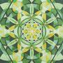 Blattkristall-Mandala