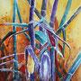 vertrockneter Mais Aquarell 2015 30 x 40 cm