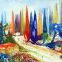 Toskana Impressionen Aquarell 36 x 48 cm